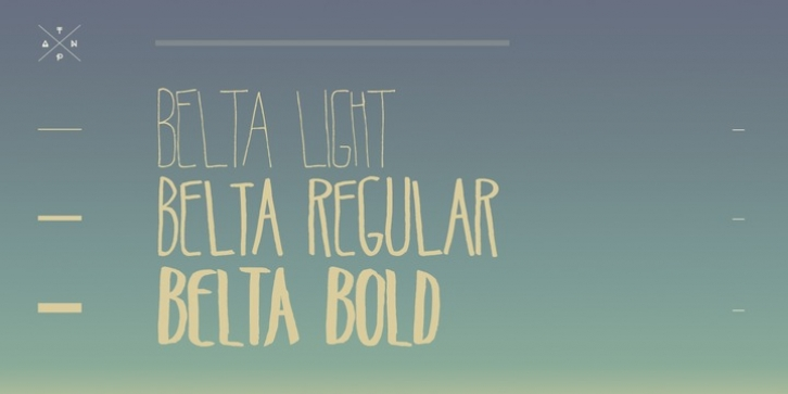 Belta font preview
