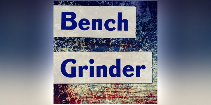 Bench Grinder font preview