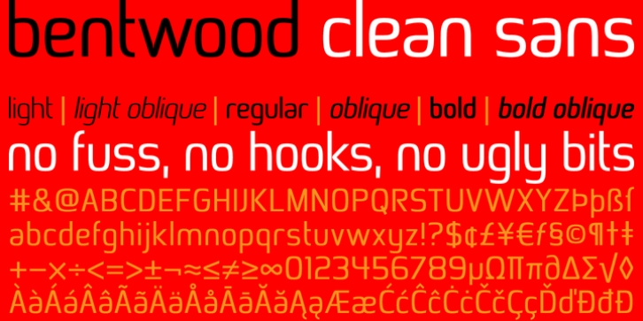 Bentwood font preview