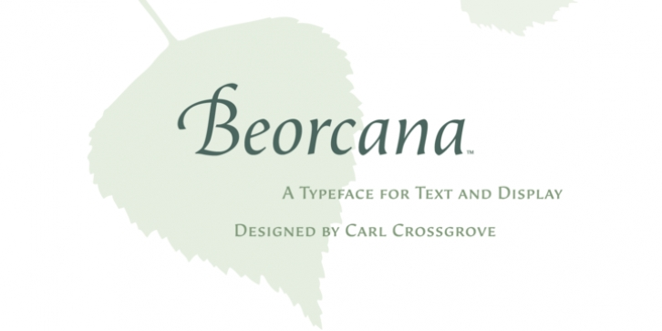 Beorcana Std font preview