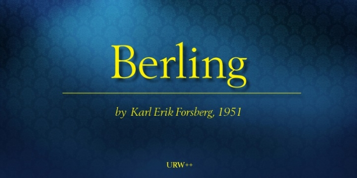 Berling font preview