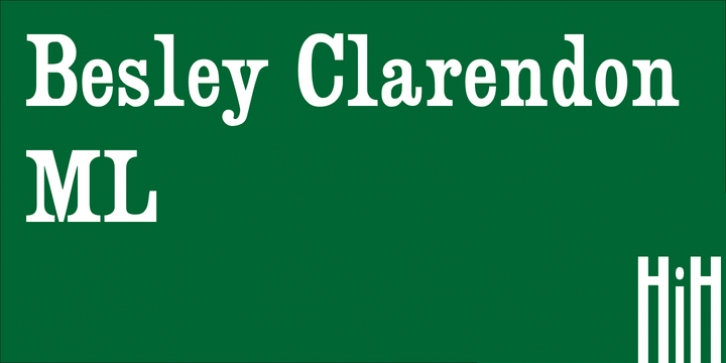 Besley Clarendon font preview