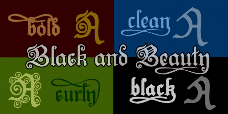Black And Beauty font preview