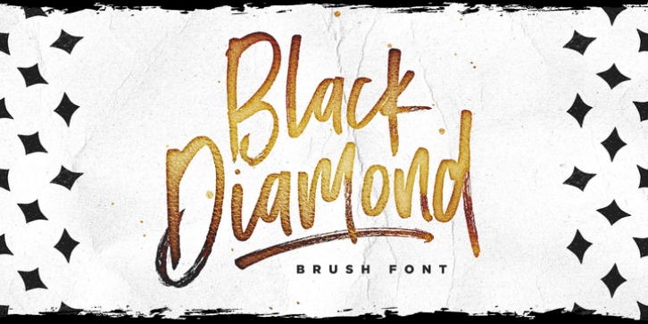 Black Diamond font preview
