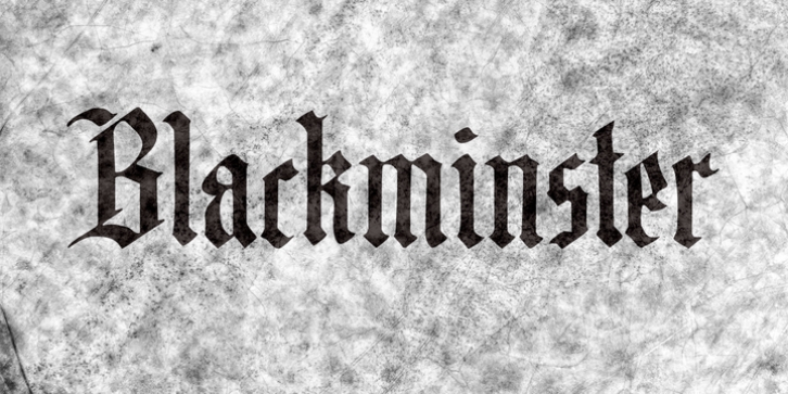 Blackminster font preview