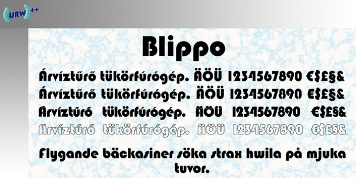 Blippo font preview