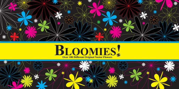 Bloomies font preview