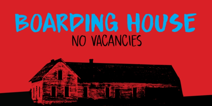 Boarding House font preview