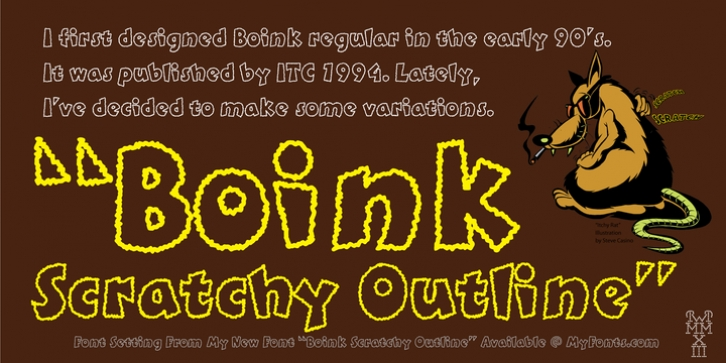 Boink Scratchy Outline font preview