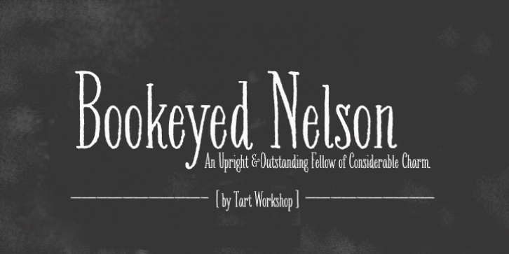 Bookeyed Nelson font preview