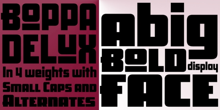 Boppa Delux font preview