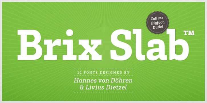 Brix Slab font preview