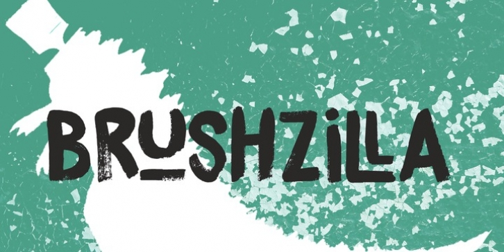Brushzilla font preview