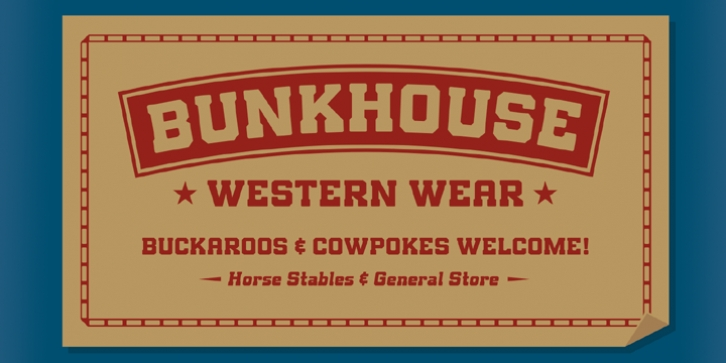 Bunkhouse font preview