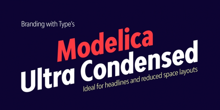 Bw Modelica Ultra Condensed font preview