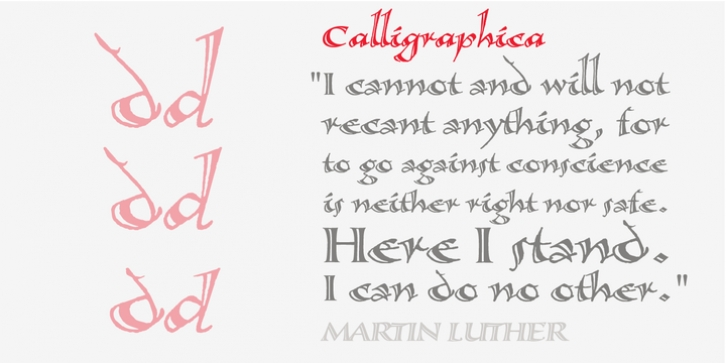 Calligraphica font preview