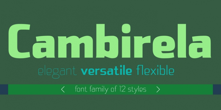 Cambirela font preview