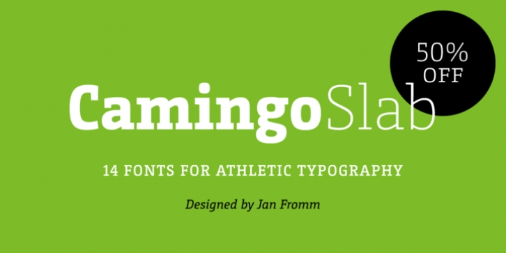 CamingoSlab font preview