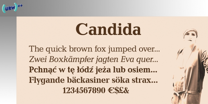 Candida font preview