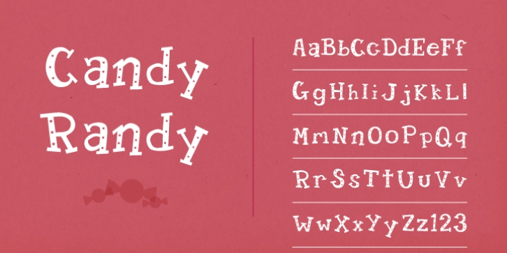 Candy Randy font preview