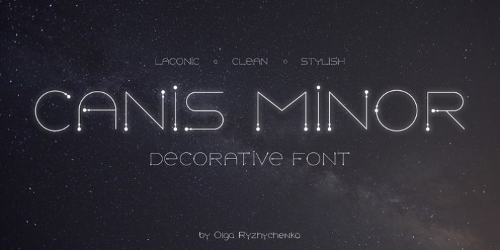 Canis Minor font preview