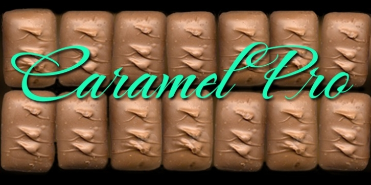 Caramel Pro-ROB font preview
