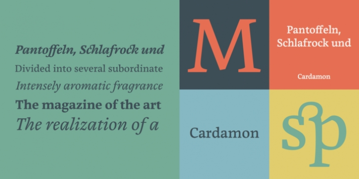 Cardamon font preview