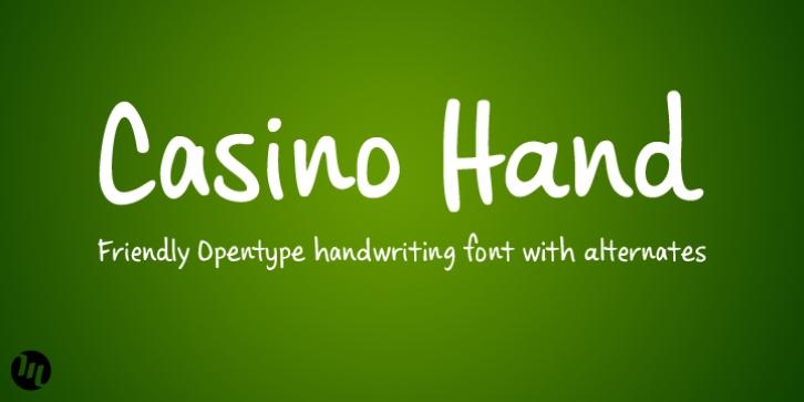 download casino hand font