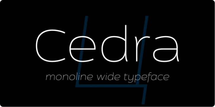 Cedra 4F font preview