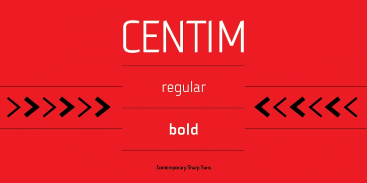 Centim font preview