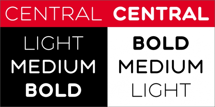 Central font preview