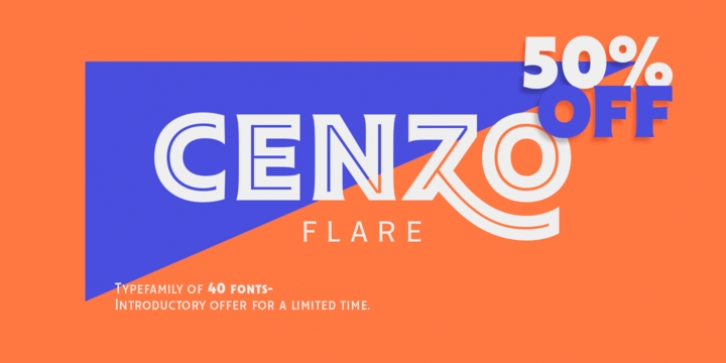 Cenzo Flare font preview