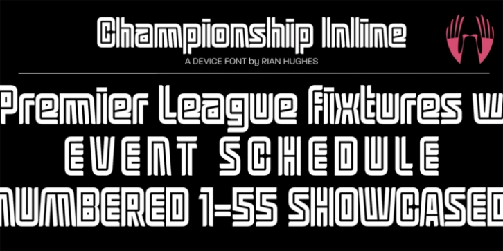 Championship Inline font preview