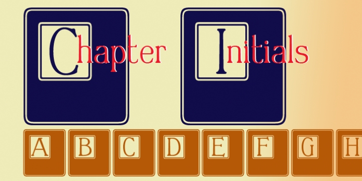 Chapter Initials font preview