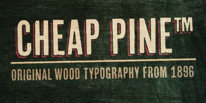 Cheap Pine font preview