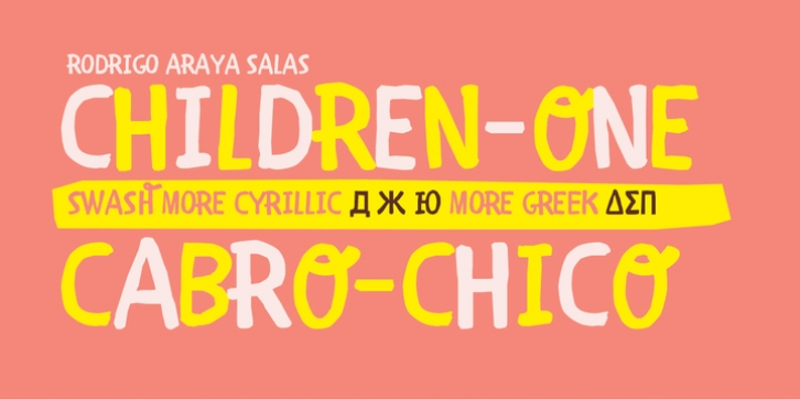 Children One font preview