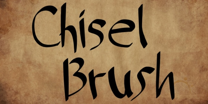 Chisel Brush font preview