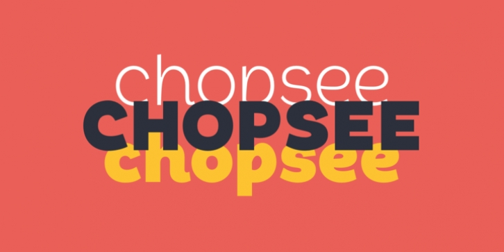 Chopsee font preview