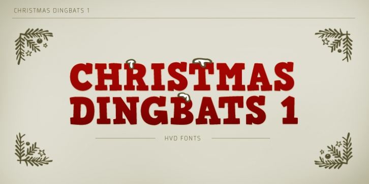 Christmas Dingbats 1 font preview