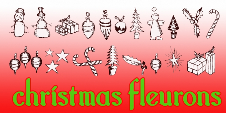 Christmas Fleurons font preview