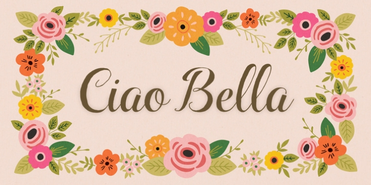 Ciao Bella font preview