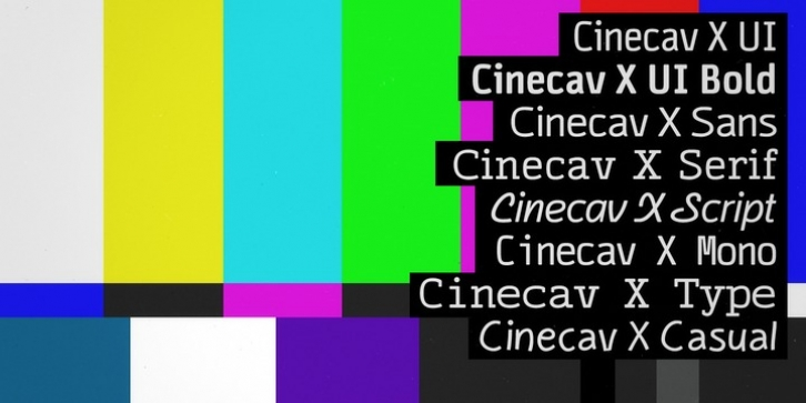 Cinecav X font preview