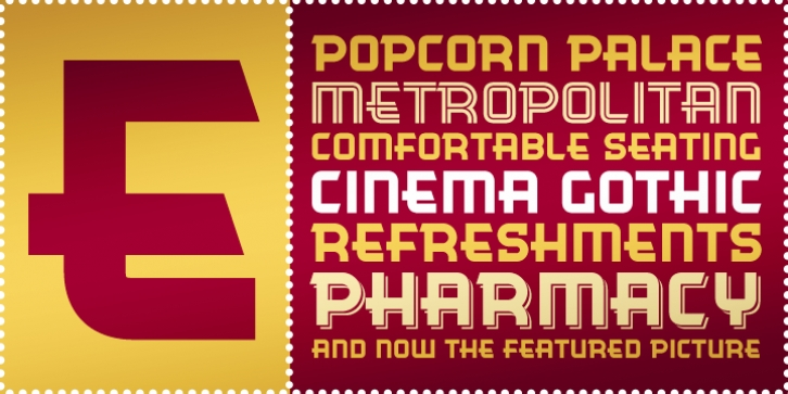 Cinema Gothic BTN font preview