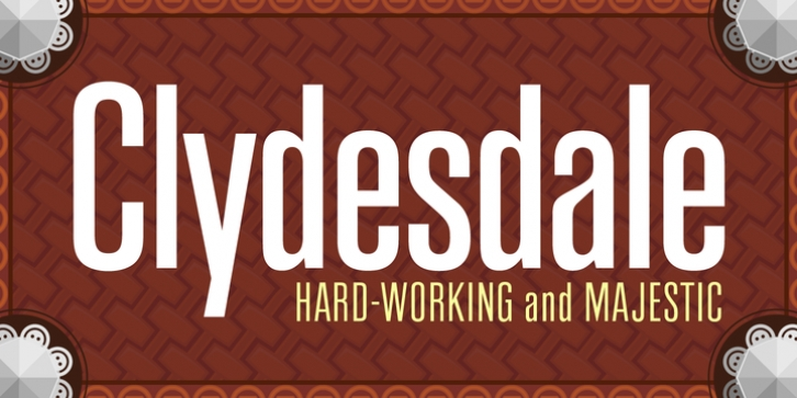 Clydesdale font preview