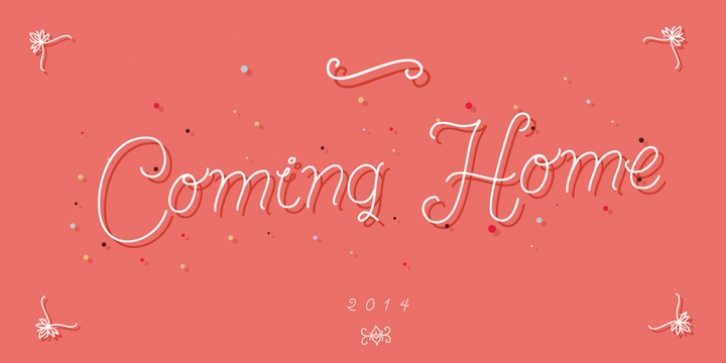 Coming Home font preview