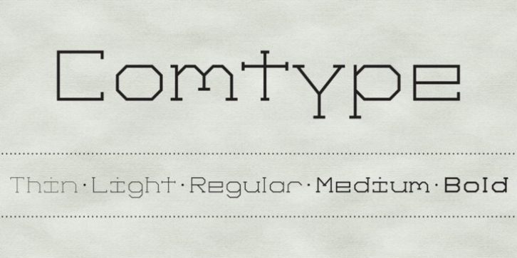 Comtype font preview