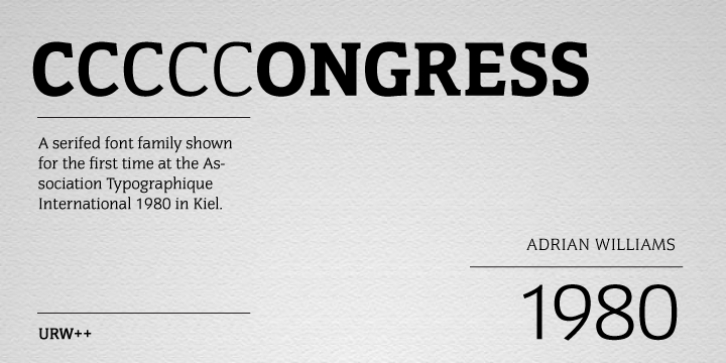 Congress font preview
