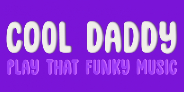 Cool Daddy font preview