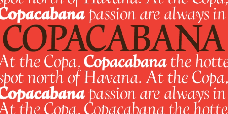 Copacabana font preview