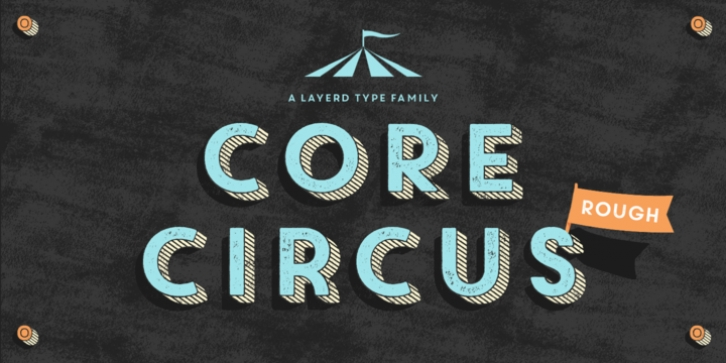 Core Circus Rough font preview